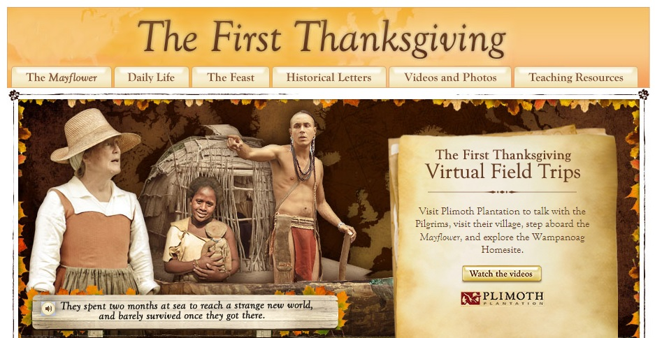 First Thanksgiving Webquest from Scholastic.com